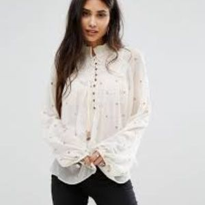 free people ready to run smocked top